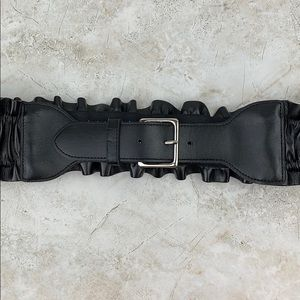 EXPRESS - Wide Black Waist Belt - M